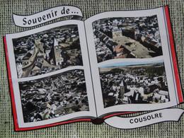 COUSOLRE SOUVENIR DE... CARTE MULTI VUES LAPIE AVEC LIVRE OUVERT - Altri Comuni