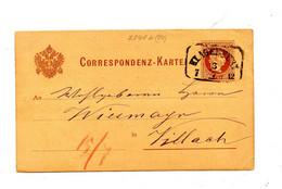 Carte Postale 2 Empereur Cachet Klagenfurt - Enteros Postales