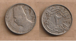 EGIPTO 2 Milliemes - 1348 (1929) Copper-nickel • 2.5 G • ⌀ 18.0 Mm KM# 345, Schön# 52 - Hungary