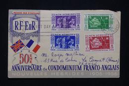 NOUVELLES HÉBRIDES - Enveloppe FDC En 1956 - Condominium Franco / Anglais - L 95933 - FDC