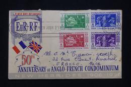 NOUVELLES HÉBRIDES - Enveloppe FDC En 1956 - Condominium Franco / Anglais - L 95934 - FDC