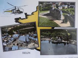 TRELON CARTE MULTI VUES LAPIE AVEC HELICOPTERE - Altri Comuni