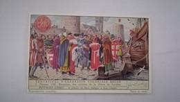 CHROMO LIEBIG - TENTATIVES D'EXPANSION COLONIALE BELGE - 1. DAMME 1240 - RECEPTION DES ENVOYES DE LA HANSA DE LONDRES - Liebig