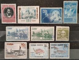 CUBA - 1953/1958 Entrega Especial - Retiro De Comunicaciones -10 Timbres Dont 8 * / 2 O (voir Scan) - Non Classificati