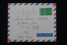 """ALGÉRIE - Enveloppe D'Alger Pour La France En 1958, Oblitération """" Algérie Française """" - L 95939 - Covers & Documents"""