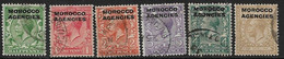 MOROCCO AGENCIES 1914 - 1931 VALUES TO 1s SG 42,43,45-47,49 SIMPLE CYPHER WATERMARK FINE USED - Oficinas En  Marruecos / Tanger : (...-1958
