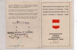 COMITATO AUSTRIACO DI LIBERAZIONE - TRIESTE 1946 - Historical Documents