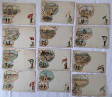 Lot De 12 Cartes -exposition De 1900-Paris -713 - Exposiciones
