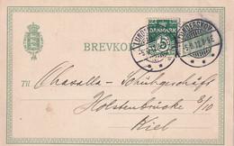 DANEMARK 1912   ENTIER POSTAL/GANZSACH/POSTAL STATIONARY   CARTE IDE LUNDERSKOV - Postal Stationery