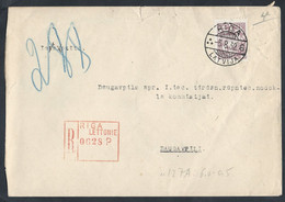 LATVIAN. REGISTERED MAIL. 1932 RIGA. DAUGAVPILS. TAX COMMISSION. - Lettland