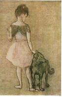 Pablo Picasso - Fillette Au Chien - Schilderijen