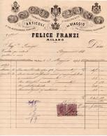 FELICE FRANZI - ARTICOLI DA VIAGGIO - MILANO 1893 - Italien