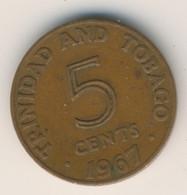 TRINIDAD & TOBAGO 1967: 5 Cents, KM 2 - Trinidad & Tobago