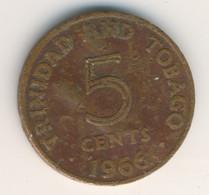 TRINIDAD & TOBAGO 1966: 5 Cents, KM 2 - Trinidad & Tobago