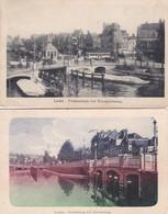 2603      584         Leiden, Prinsessekade Met Blauwpoortsbrug, Borstelbrug-1909, Haarlemmerstraat-1918 - Leiden