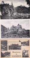 3834420Vianden, Bonjour – Les Ruines – Vue Prise Du Pont (3 Cartes) (voir Coins, Voir Verso) - Vianden