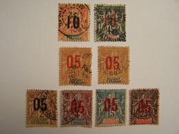 France Sultanat D'Anjouan 1892-1912  8 Oblitérés - Oblitérés