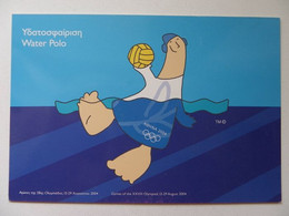Athens Olympics  2004  Water Polo  /  Greek Postcard - Sin Clasificación