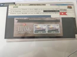 BLOC FEUILLET DE 2 TP NEUFS SOUS BLISTER 1999- IRLANDE - TITANIC - SOUVENIR PHILATELIQUE - Blocks & Kleinbögen