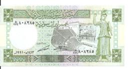 SYRIE  5 POUNDS 1991 UNC P 100 E - Syria