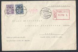 LATVIAN. REGISTERED LOCAL MAIL. 1927 RIGA.  Tax Inspector. - Lettland