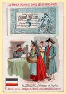 Chromo Chocolat D'Aiguebelle. Le Papier Monnaie Dans Le Monde. Allemagne, Collecteur D'impôts. - Aiguebelle
