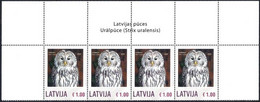 Latvia Lettland Lettonie 2020 - Ural Owl - Personalized Stamp (upper Row Of Sheet) - Funghi