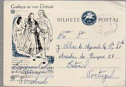 Portugal & Marcofilia, Know Your Dances, Fandango Poveiro, Redondo A Estoril 1963 (7688) - Covers & Documents