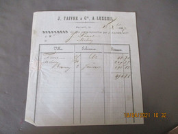 1867 Luxeuil  Faivre Et Cie Facture - 1800 – 1899