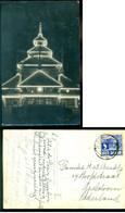 Nederlands Indie 1936 Ansichtkaart Met Verlichte Entrée Pasir Gambir Van Batavia Naar Apeldoorn - Indie Olandesi