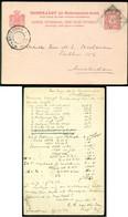 Nederlands Indie 1902 Briefkaart Van Soerabaja Naar Amsterdam Geuzendam 12 - Indie Olandesi