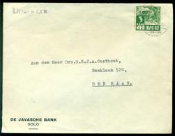 Nederlands Indie 1938 Brief Van Javasche Bank Te Solo Naar Den Haag - Indie Olandesi