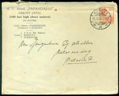 Nederlands Indie 1933 Brief Vav Hotel Papandajan Te Garoet Naar Batavia - Indie Olandesi