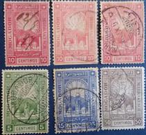 MAROC - Postes Locales - Mogador à Marrakech - Sélection Des N° 84/87 Oblitérés, Obl. Manuscrite, Dentelures, Nuances.. - Sellos Locales
