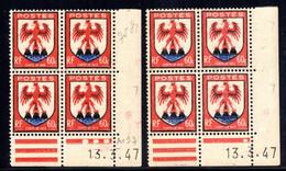 YT-N°: 758 - Blason Du COMTÉ DE NICE, Coin Daté Du 13.03.1947, Galvano A+B, 7e Tirage, NSC/**/MNH - 1940-1949