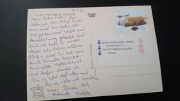 Portugal - Postal Circulado (Airplane) - Cartas
