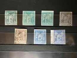 FRANCE Colonies Générales, Type SAGE N° 30 à 36 , Cote 340 €   Voir Scan - Sage