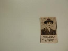 """Origineel Knipsel ( D 305 ) Uit Tijdschrift """" Zondagsvriend """" 1936 :  Ongevallenverzekering  Kampenhout - Ohne Zuordnung"""
