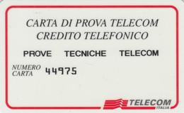 CARTA DI PROVA TELECOM CREDITO TELEFONICO (CK476 - Usi Speciali