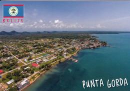 1 AK Belize * Blick Auf Punta Gorda Die Südlichste Stadt In Belize - Luftbildaufnahme * - Belize