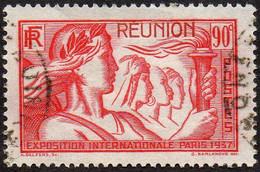 Réunion Obl. N° 153 - Exposition Internationale 90c Rouge - Usados