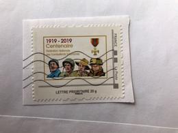 Timbre Personnalise Sur Fragment France Soldat Centenaire Défécation Ancien Combattante Première Guerre Mondial 1919 201 - Personalizzati (MonTimbraMoi)
