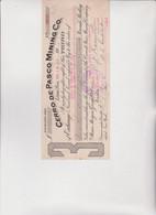 CAMBIALE  DI  CAMBIO .  CERRO  DE  PASCO  MINING  CO.  -  LIMA - PERU' .  1917 - Bills Of Exchange