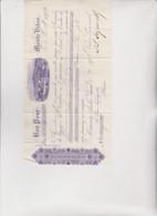 CAMBIALE  DI  CAMBIO .  BON  POUR  ...  MONTE  VIDEO   1892 - Bills Of Exchange