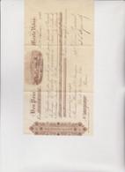 CAMBIALE  DI  CAMBIO .  BON  POUR  ...  MONTE  VIDEO   1896 - Bills Of Exchange