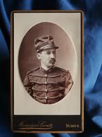 Photo CDV  Monsegur Conte à Nimes  Portrait Militaire S/Lieutenant 117e Infanterie Territoriale  CA 1890 - L545A - Ancianas (antes De 1900)
