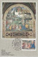Carte Maximum  Peinture Painting Italie Italia 1997 Spello - Maximum Cards