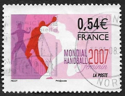 FRANCE   2007  -   Y&T  4118  -   Mondial Handball    -  Oblitéré - Gebruikt