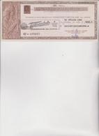 ASSEGNO  CIRCOLARE  EMESSO DALLA BANCA NAZIONALE DEL LAVORO  PER  CONTO  DEL  TOTOCALCIO.  1954 - Assegni & Assegni Di Viaggio