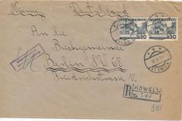 POLAND / POLSKA - KOWEL , 1938  ,  R-Brief Nach Berlin , Polnische Zensur  - Grossbrief: Versand 2,50 EURO - Briefe U. Dokumente